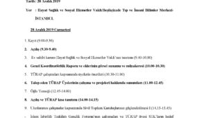 TÜRAP IX. İSTİŞARE GRUBU İL TOPLANTISI GÜNDEMİ/İSTANBUL