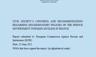 Fransa'daki Müslümanlara Yönelik Ayrımcı Devlet Politikaları İle İlgili Sivil Toplum Kuruluşlarının Endişeleri Ve Önerilerini